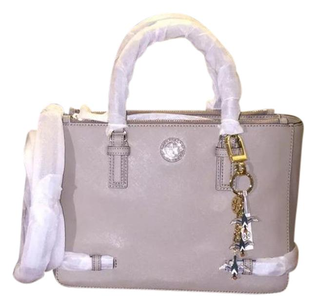 Item - Robinson Small Multi French & Key Fob Gray Leather Tote