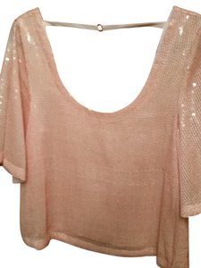 Free People Sequin Crop Top Pearl