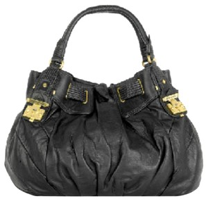 Juicy Couture Juicy Leather Duffle Tote in Black