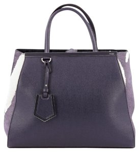 Fendi Pony Hair Leather Tote in Blue