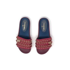 Chanel Fuschia Sandals