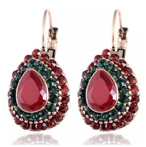 Next Level Dress Vintage Crystal Raindrop Earrings