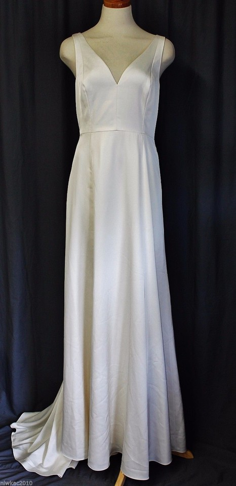 J Crew Ivory Francoise Feminine Wedding Dress Size 6 S