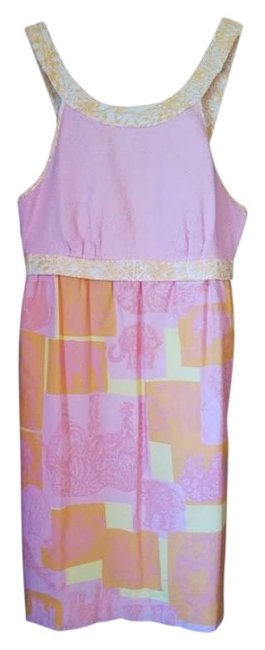 Preload https://img-static.tradesy.com/item/204870/lilly-pulitzer-pink-orange-and-yellow-jubilee-elephant-design-above-knee-short-casual-dress-size-6-s-0-0-650-650.jpg