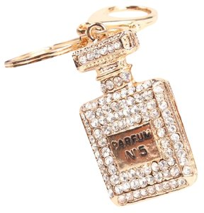 Next Level Dress Perfume Bottle Rhinestone Keyring