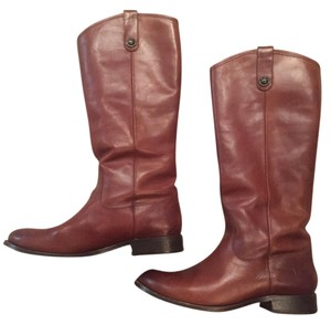 Frye Riding Leather Brown Boots