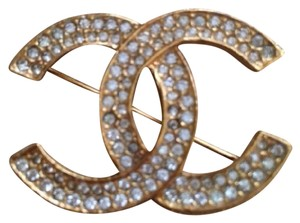 Chanel CHANEL CRYSTAL BROOCH PIN