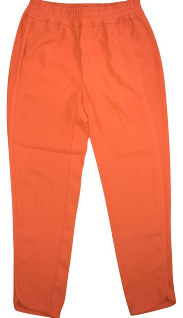 Item - Orange Crepe Relaxed Jogger Pants Size 0 (XS)