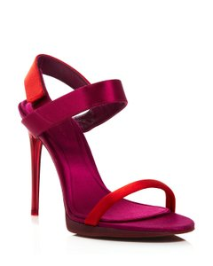 Burberry Fashion Pump Peep Toe Sandal Red Cherry Pink Pumps