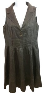 Other short dress Brown Linen on Tradesy