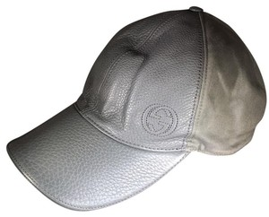 Gucci Gucci 337798 A7MYN 1217 Grey baseball cap leather canbas GG logo