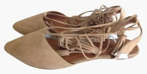 Jeffrey Campbell Wrap Natural Suede Flats