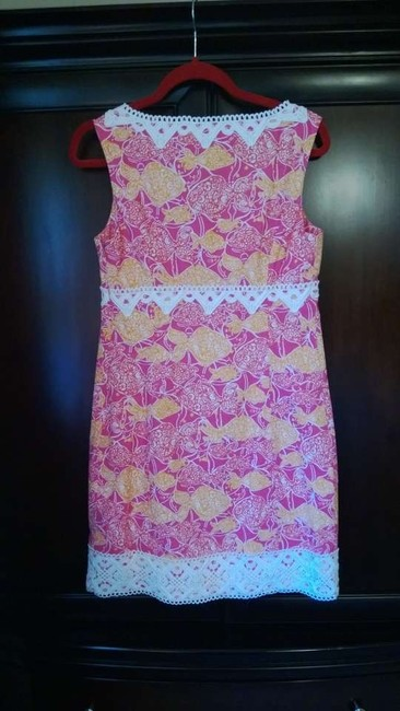 Lilly Pulitzer short dress Pink, Orange, and White on Tradesy