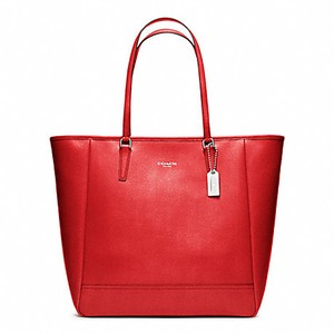 Coach Saffiano 23821 Tote in Vermillion