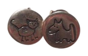 Silpada Retired Silpada Sterling Silver Children's Cat/Dog Earrings - 50% off