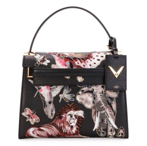 Valentino Rockstud My Rockstud Satchel in Black Fantastic Animals NWT Valentino