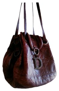 Dior Leather Quilted Vintage Look Hobo Bag