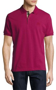 Burberry Mens Large Short-Sleeve Oxford Polo Shirt
