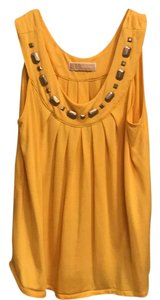 Michael Kors Top Yellow with gray studs