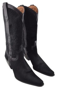 Donald J. Pliner Pony Black Boots