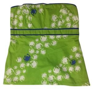 Lilly Pulitzer Strapless Top Green, white and blue