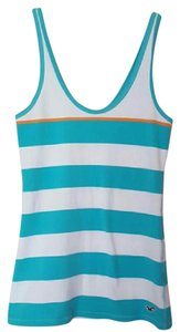 Hollister Striped Top White, Teal, Orange