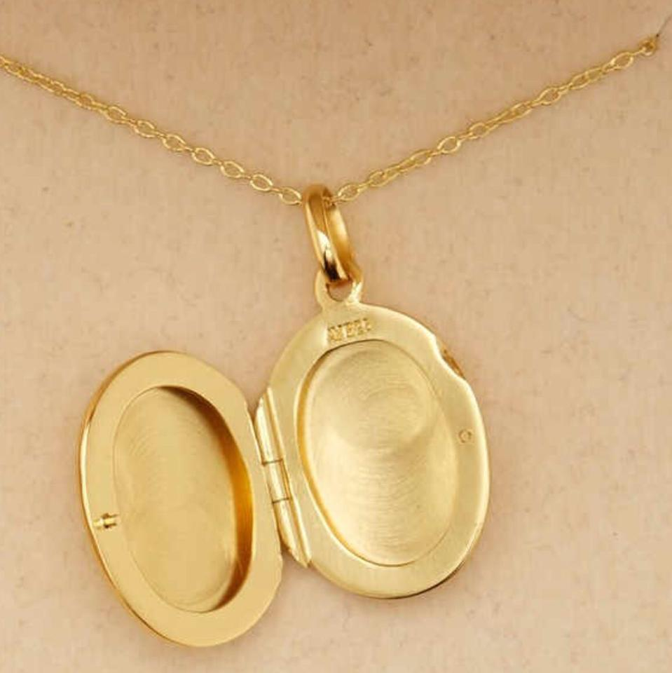 f7a28b95dbb Argento Vivo Gold 18k Plated Vermeil Oval Swirl Locket Pendant Necklace -  Tradesy