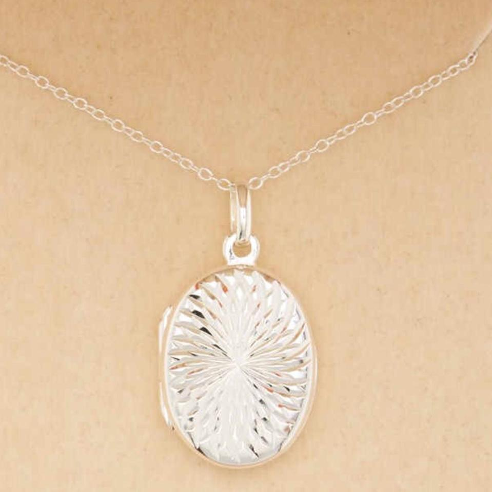 Argento vivo silver sterling engraved swirl oval pendant locket argento vivo sterling silver engraved swirl oval pendant locket necklace 123456 aloadofball Images
