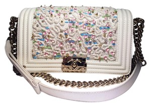 Chanel Exclusive Embroidered Leather Shoulder Bag