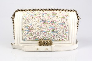 Chanel Exclusive Embroidered Leather Limited Edition Shoulder Bag