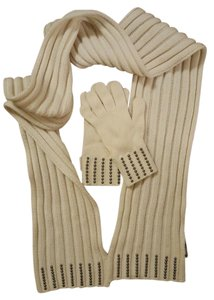 Moncler Studded Scarf and Glove Set