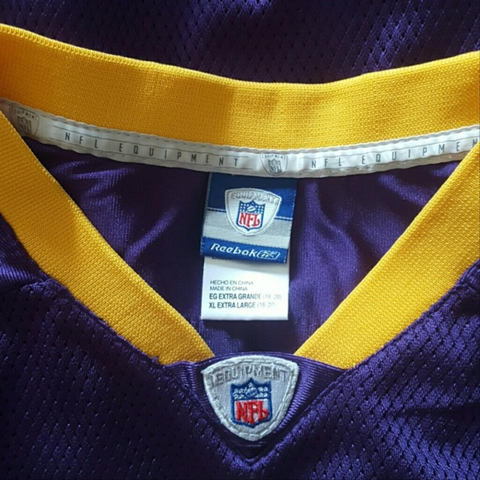 new concept b2125 7467c Reebok Purple White Gold Jersey Koren Robinson #81 Minnesota Vikings Blouse  Size 16 (XL, Plus 0x) 46% off retail