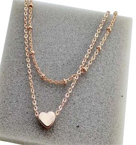 Other New Gold Tone Heart Double Chain Anklet 10 inch Ankle Bracelet J3074