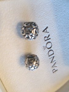 PANDORA lot of 2 Pandora #790454 Open Heart Spacer and Lotsa love