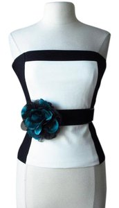 White House | Black Market New with tags lotus teal flower stretch belt Medium