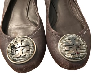 Tory Burch grey and silver Flats