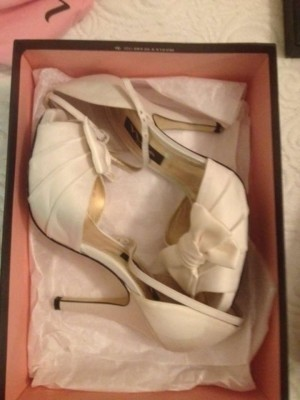 Nina Shoes Strappy 3 1/4 Inch Heel Wedding Shoes