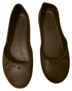 Crocs Wide Brown Flats