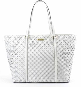 Kate Spade Dally Saffiano Leather Tote in BRIGHT WHITE