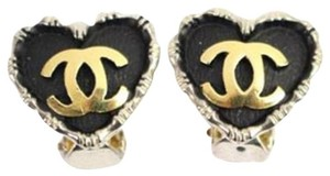 Chanel CC Heart Two-Tone Earrings 13CCA926
