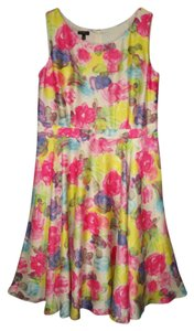 Talbots Silky Floral Watercolor Party Dress