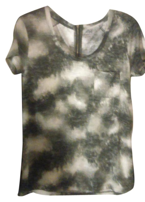 Item - Charteuse/White/Grey/Purple Cute T Tee Shirt Size 6 (S)