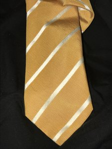 Burberry London Burberry London Neck Tie Striped On Yellow Made In Italy