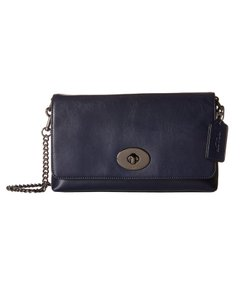 Coach Designer Gun Metal Hardware Cross Body Bag
