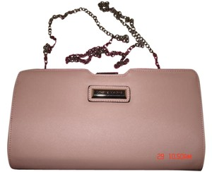 Catherine Malandrino Crossbody Chain Strap Dust Pink Clutch