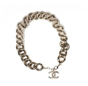 Chanel Chanel Gold Pearl Curb Chain Necklace