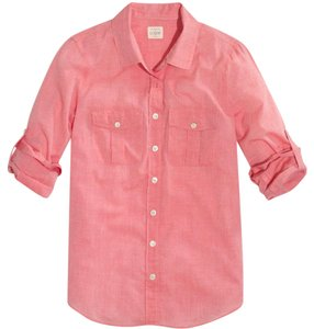 J.Crew Button Down Shirt strawberry