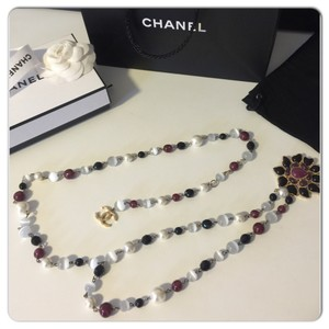 Chanel Authentic Chanel Pearl/stone Necklace/ Belt