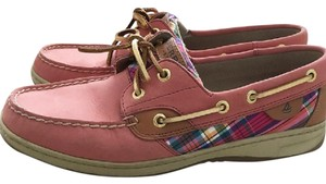 Sperry Pink with Gold Platforms