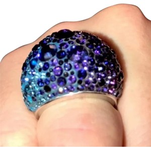 Swarovski purple and blue chic ring